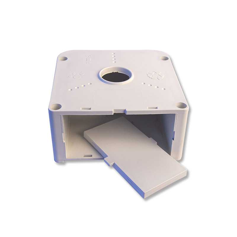 PVC-CCTV-Camera-Mounting-Box-bottom-clip-in-panel-access