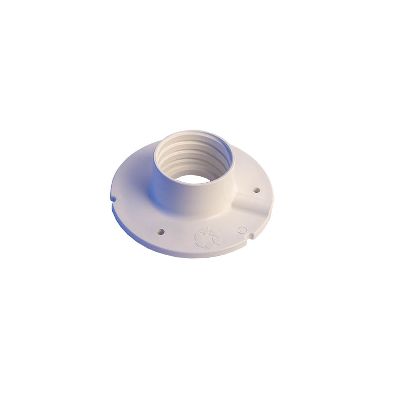 PVC-wall-or-ceiling-mount-base-plate-with-cable-access